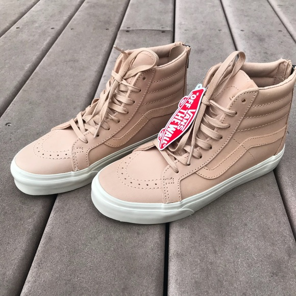 d4fa5741a4 Vans Sk8 Hi Leather Veggie Tan Reissue Zip DX